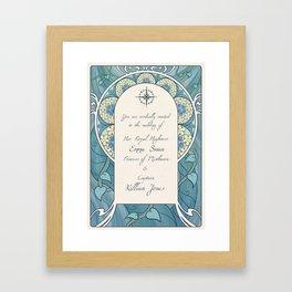 Invitation Framed Art Print