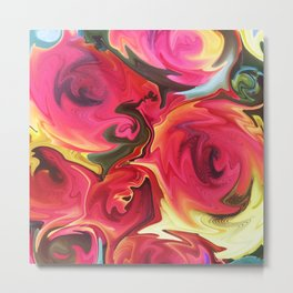 462 - Abstract Flower Bouquet Metal Print