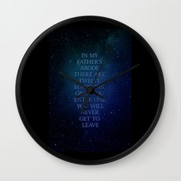 Twelve mansions Wall Clock