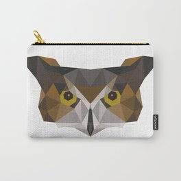 Owl head geometric polygon gift idea hipster Carry-All Pouch