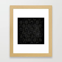 Goth Crosses Framed Art Print