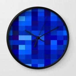 Blue Mosaic Wall Clock