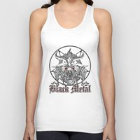baphomet Tank Tops featuring Black Metal Baphomet Pentagram  by Scott Jackson Monsterman Graphic