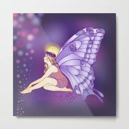 Purple Pixie Metal Print