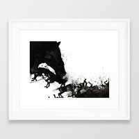 horses Framed Art Prints featuring Horses by miguel ministro