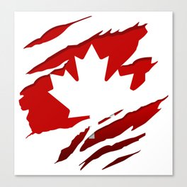 Canadian Red Flag Pride Canvas Print