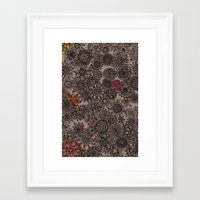 flower pattern Framed Art Prints featuring Flower Pattern by Aubree Eisenwinter