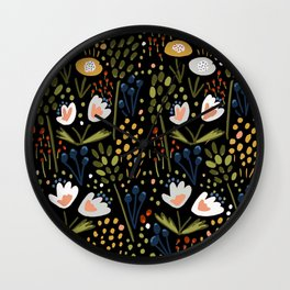 Little Flowers Wall Clock