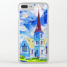 White Church - St. Andrew's In Cambridge, New Zealand Clear iPhone Case