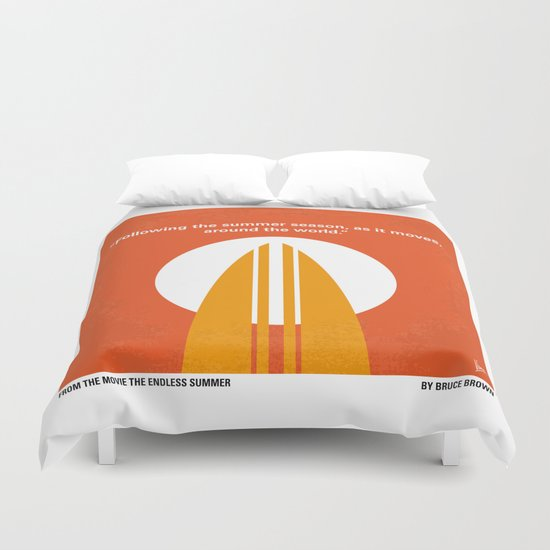 No274 My The Endless Summer minimal movie poster Duvet Cover