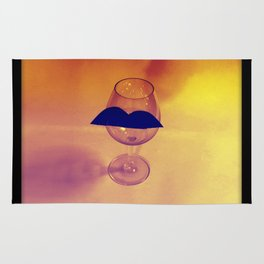 Hipster Wine Glass Rug