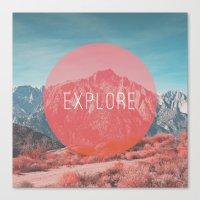 explore Canvas Prints featuring Explore by Zeke Tucker