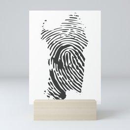 Sardinian fingerprint Mini Art Print