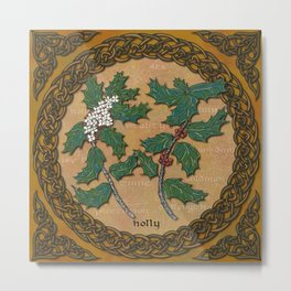 Celtic Holly Metal Print