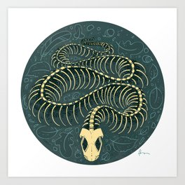 Serpentes: In Death Art Print
