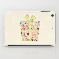 gift card iPad Cases featuring Christmas Gift 02 by BlueLela