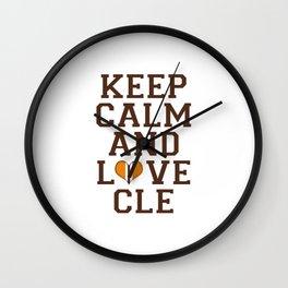 LOVE CLE BROWNS II Wall Clock