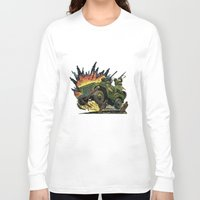 jeep Long Sleeve T-shirts featuring Battle Squadron Jeep by Copyright free comic fans