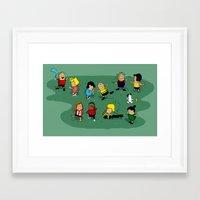 peanuts Framed Art Prints featuring Juts Peanuts!! by Fabian Gonzalez