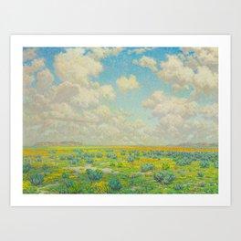 Granville Redmond Spring Antelope Valley Beautiful Landscape Painting Blue Sky Green Flower Filled F Art Print