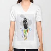 notorious big V-neck T-shirts featuring Notorious by Tecnificent