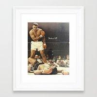 ali gulec Framed Art Prints featuring Ali by Alex