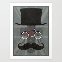 Bicycle Head Art Print