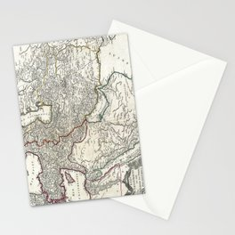 Map of Persia, Arabia and Turkey - Vaugondy - 1753 Stationery Cards