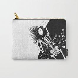 girl skeleton flower Carry-All Pouch