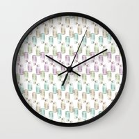 drink Wall Clocks featuring Drink me! by Brocoli ArtPrint