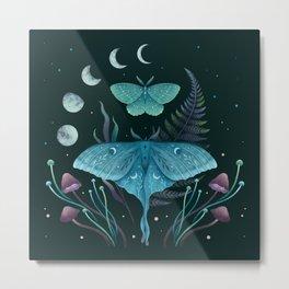 Luna and Emerald Metal Print