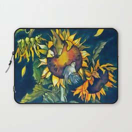 Sunflowers and birds Laptop Sleeve