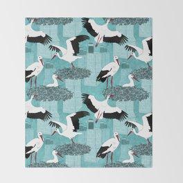 Storks Throw Blanket