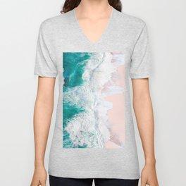 Pink Sand Beach Unisex V-Neck