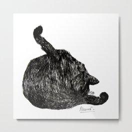 Manet's Cat Metal Print