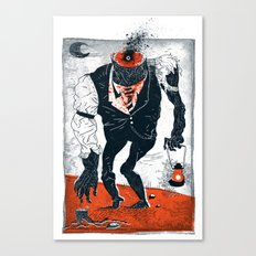 The Haunted Conductor Canvas Print