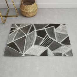 Rock Geode Crystal - Pastel Drawing Rug