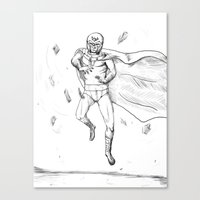 magneto Canvas Prints featuring Magneto by AJ Ryan