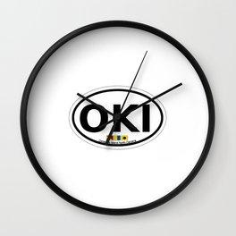 Ocracoke Island - North Carolina. Wall Clock