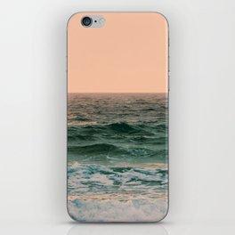 Pink Skies Ocean Vibes iPhone Skin