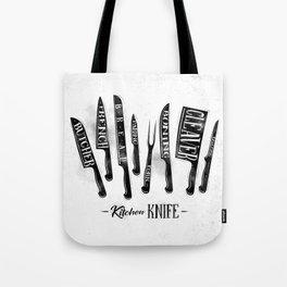Kitchen knife Tote Bag