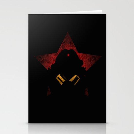 SuperHeroes Shadows : WonderWoman Stationery Cards