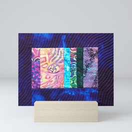 Quilted Purple Hand-Dyed with Scrappy Panel Mini Art Print