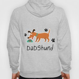 DadShund Dachshund Dad Funny Love Dog Pet Gift Hoody