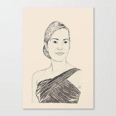 Kate Winslet Portrait Canvas Print