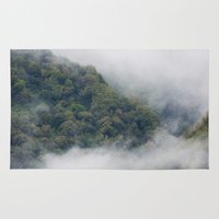 fog Area & Throw Rugs featuring Fog by Michelle McConnell