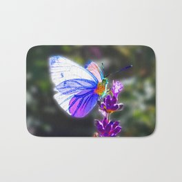 Butterfly on the Lavender Bath Mat