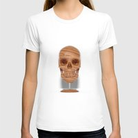 wooden T-shirts featuring Wooden Skull by Luke Dwyer Design