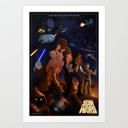 I grew up with a new hope Art Print