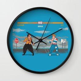 Hammer Vs Ice Wall Clock